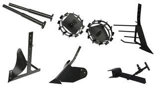 комплект насадок для FJ500 (грунтозацепы, удлинитель, плуг, картофелевыкапыватель, окучник, сцепка) в Абдулино